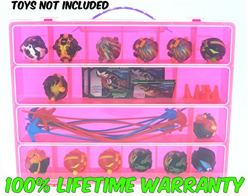 Power Rippers Case, Toy Storage Carrying Box. Figures Playset Organizer. Accessories For Kids by LMB