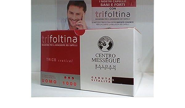 trifoltina 1000 Hombre 10 + 10 ampollas caída Cabello y vitalità oferta: Amazon.es: Belleza