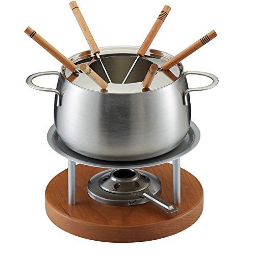 Kuhn Rikon Zermatt Meat Fondue Set, Medium, Silver/Brown by Kuhn Rikon