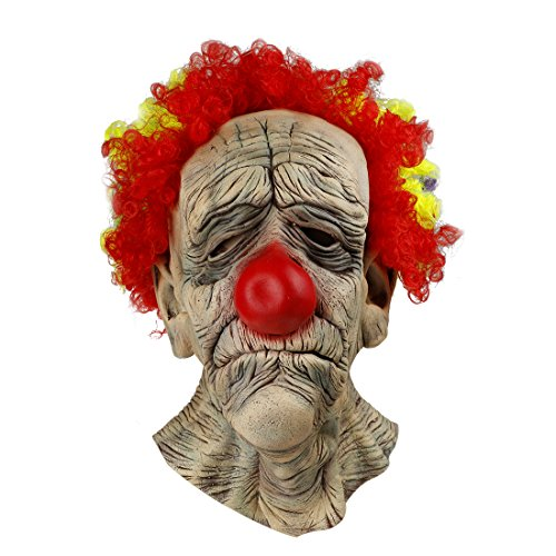 MISHIN Latex Halloween Full Head Mask Clown Costumes Adult Masquerade Party Dress Up Prop (Costume Party Ideas For Adults)