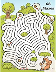 Jumbo Illustrated Mazes Workbook For Kids Ages 8-12: Funny Logical Maze Puzzle Books For Kids Ages 8-12 Years