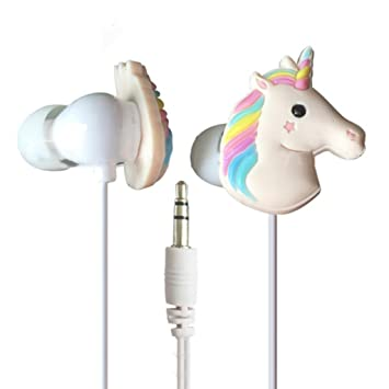 zhouba 3,5 mm Draht Cute 3D Einhorn in-Ear: Amazon.de: Elektronik