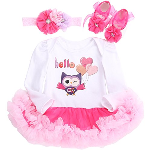 Fubin Baby Girl Clothes For Gift Newborn Photography Props Reborn Baby Dolls Dress Owl Long Sleeve 0-3 Months/21-23''/11-13lb