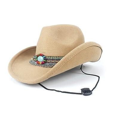 Fashion Women Wool Hollow Western Cowboy Hat Elegant Tassel Band Fascinator  Hombre Caps Keep Warm ( ddaef77fe02e