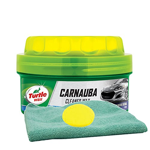Turtle Wax Carnauba Paste Wax (14 oz.) Bundle With Microfiber Cloth & Foam Pad (3 ()