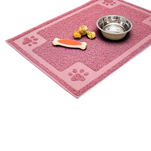 Cavalier Pets, Dog Bowl Mat for Cat and Dog Bowls, Silicone Non-Slip Absorbent Waterproof Dog Food Mat, Easy to Clean…
