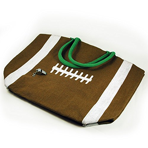 Two's Company Touchdown Football Tote Bag With Whistle ()