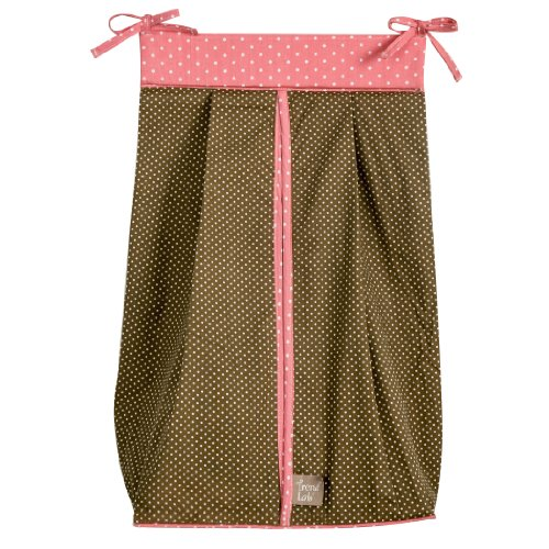 Trend Lab Cocoa Coral Diaper Stacker, Coral Pink (Pinstripe Pink Set Diaper)