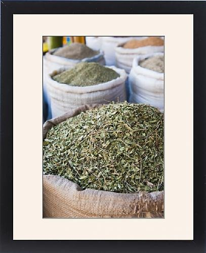Framed Print of Moroccan tea leaves for sale, Essaouira, formerly Mogador, UNESCO World