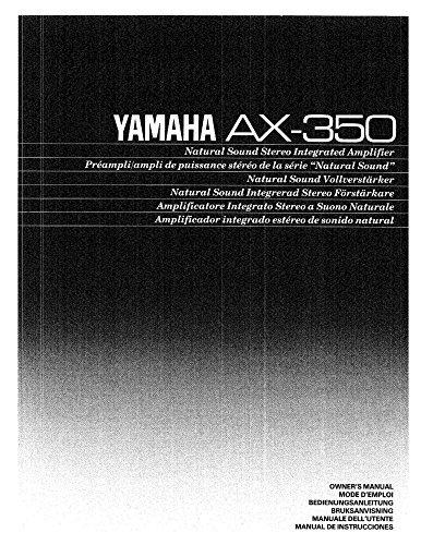 Yamaha AX-350 Amplifier Owners Instruction Manual Reprint: Amazon.com: Books