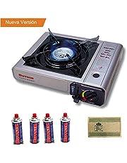 Butsir Cocina Portatil Camping de Cartucho de Gas un Fuego + Incluido 4 Válvula B250 Gratis Envio 24Horas