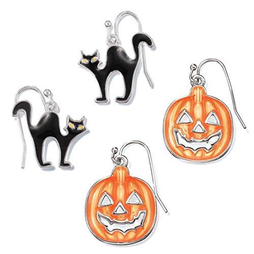 (Avon Halloween Time Earrings - Black - One)