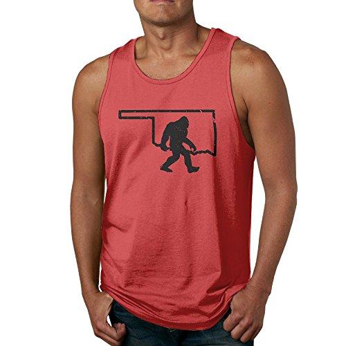 Sasquatch Bust (Buyiyang-01 Men Oklahoma Bigfoot Sasquatch Tank Top Athletic Tank Tops Undershirts Shirt)