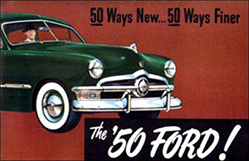 - A BEAUTIFUL 1950 FORD DEALERSHIP SALES BROCHURE Covers Crestliner, Business Coupe, Custom, Club Coupe, Country Squire Wagon, Tudor Sedan, Fordor, Convertible - ADVERTISMENT - OPTIONS - ACCESSORIES