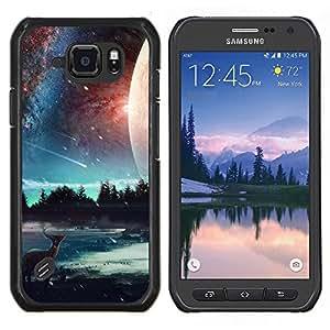 EJOOY---Cubierta de la caja de protección para la piel dura ** Samsung Galaxy S6Active Active G890A ** --Hermosa Elk Galaxy
