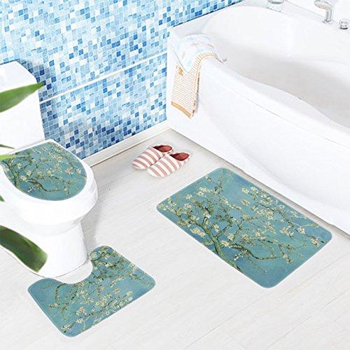 1 Set  Almond Blossom Bathmats Toddler Non Slip Textured Rou