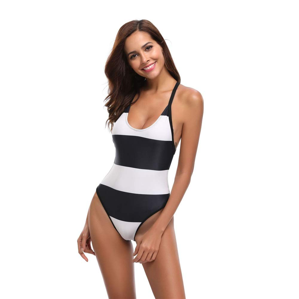 Black Large Women's One Piece Swimsuit Womens One Piece Swimsuit Tummy Control Slimming Bathing Suit Vintage Swimwear Athletic Training Swimsuits Swimwear Bathing Suits (color   Black, Size   M)