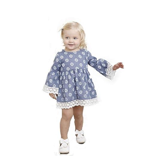 526a6dc0718 Little Girls Flowers Dress, Toddler Summer Dresses Ruffles Sleeve Lace Hem Cute  Sundress Size 1