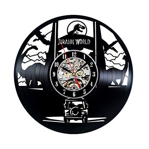 Jurrasic Park Theme Vinyl Clock Bedroom Wall Decor For Sale