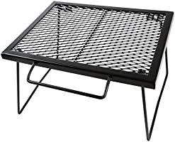 YOLER メッシュテーブル スチールテーブル 折りたたみ アウトドア キャンプ用品 専用キャリーバッグ付 43×32×26cm