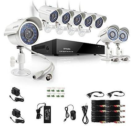 Zmodo 700TVL Videovigilancia Juego Vigilancia 8 CH 960H/D1 DVR con 8 Altura Resolución Visión