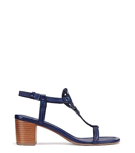 51abd8741a62 Tory Burch Miller 55mm Sandal Veg Nappa Leather Blue Size  7  Amazon ...