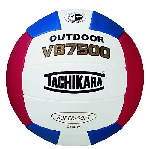 TACHIKARA VB7500 OUTDOOR COMPOSITE LEATHER VOLLEYBALL SCARLET/ROYAL/WHITE by Tachikara