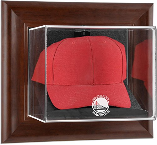 (Golden State Warriors Brown Framed Wall Mounted Cap)