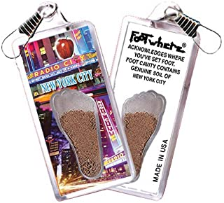 product image for New York City FootWhere Souvenir Zipper-Pull. Made in USA (NYC302 - Music Hall)