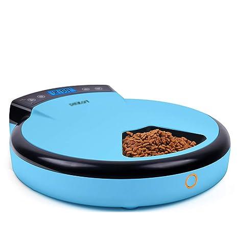 GYFSLG Alimentador Automático para Mascotas Comida para Perros Comida para Gatos Máquina De Alimentación Automática Giratoria