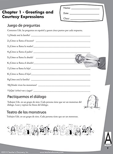 Amazon.com : Tom Alsop's 1st Year Spanish Workbook Set of 30 + 1 ...