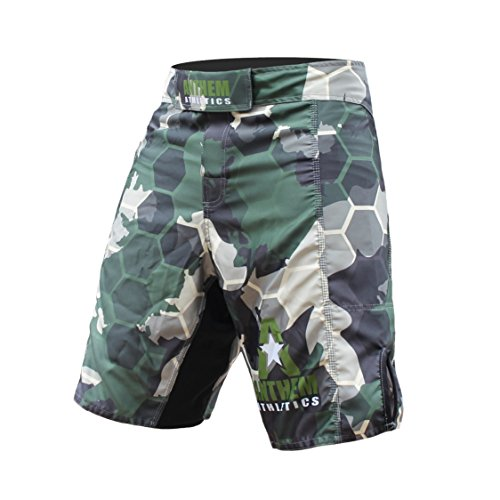 Anthem Athletics RESILIENCE MMA Shorts - Green Camo Hex - 34