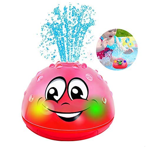 🥇 QINGBAO Bath Toys Bathroom Play Bath Spray Toys with Lamp Electric Automatic Induction Bathing Water Toy