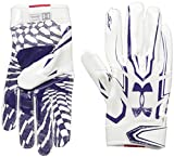 Under Armour Mens F5 Football Gloves, White/Purple, Small