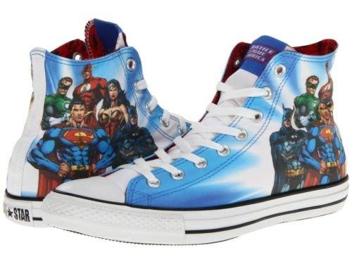 8cd3839d07d2 Galleon - Converse Chuck Taylor Hi All Justice League Of America DC COMICS  131298F Unisex Shoes (Size 6)