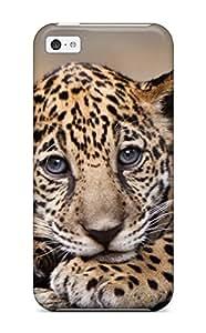Unique Design Iphone 5c Durable Tpu Case Cover Baby Jaguar