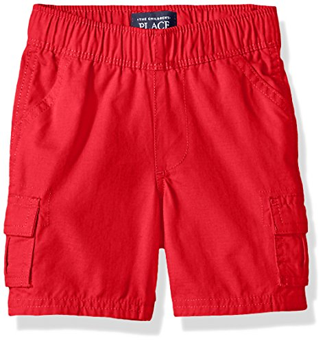 [The Children's Place Boys' Pull-On Cargo Short, Ruby, 9-12 Months] (Red Boys Shorts)