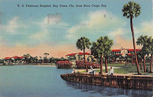 Boca Bay (Bay Pines Florida Veterans Hospital Boca Ceiga Bay Antique Postcard K44095)