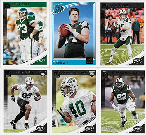 New York Jets Memorabilia - New York Jets 2018 Donruss NFL Football Complete Mint 12 Card Team Set with Josh McCown, Joe Klecko, Sam Darnold Rookie card plus