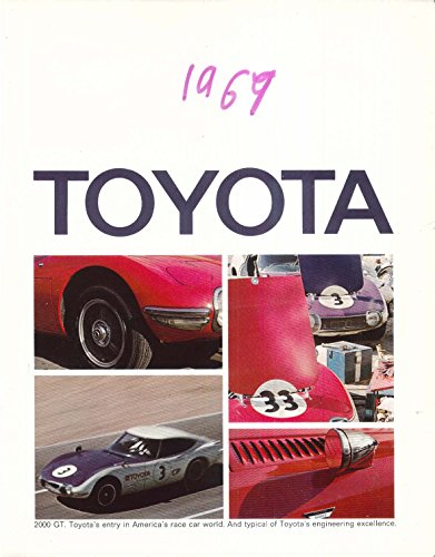 - 1969 Toyota 2000 GT sales brochure: Corolla Corona Crown Land Cruiser
