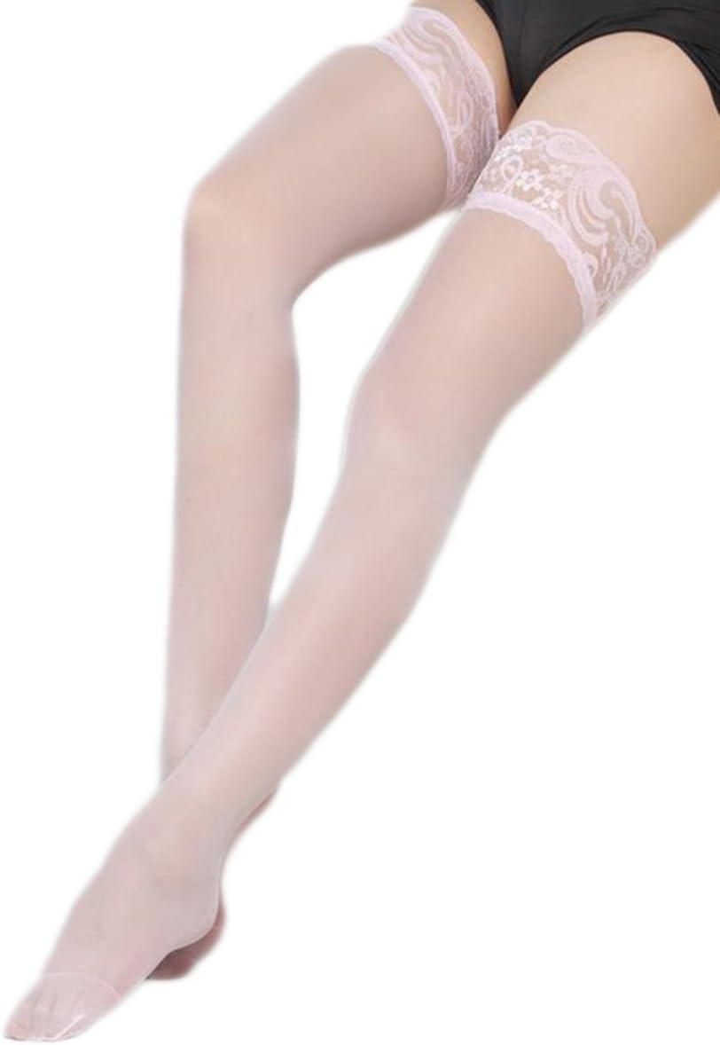 rose rouge //violet noir blanc Joyfeel buy 1 pi/èce Bas de dentelle couleur unie Dames bas de spandex /él/égant Costume pour femme fille-rose rouge couleur de la peau