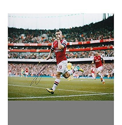 70744e8bae5 Jack Wilshere Autographed Signed Arsenal 12x18 Photo  2013-14 ...