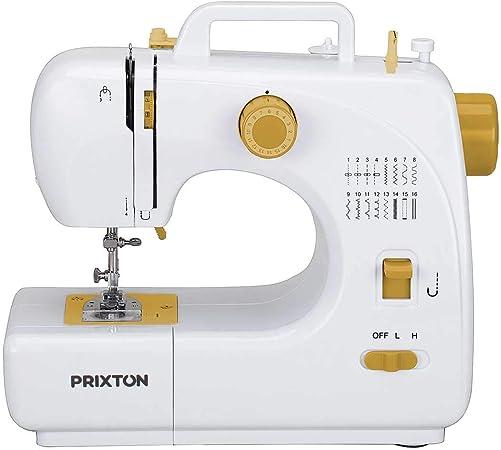 PRIXTON P120 - Maquina de Coser Portátil con Cajón para Accesorios ...