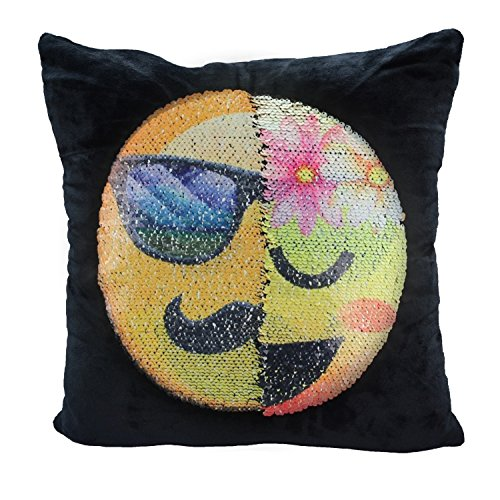 Reversible Sequin Mermaid Pillow Case, USONG Emoji Changeable Face Cushion Cover Pillow Cases Decorative Pillowcase 16x16