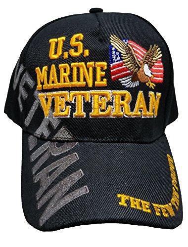 Black Usmc Cap - Buy Caps and Hats U.S. Marine Veteran Cap US USMC Black Hat United States