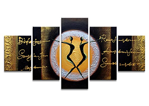 Gold and Black Dance Paintings The Picture Prints On Canvas