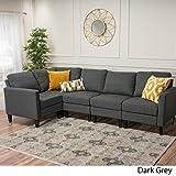 Cheap Carolina Dark Grey Fabric Sectional Couch