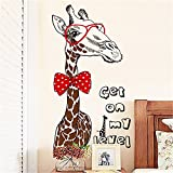 YUMULINN wallpaper stickers Wallpapers murals Living room background wall decorations wall stickers creative bedroom study door stickers personalized fashion giraffe wall stickers, 60X90CM
