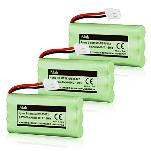 3-Pack iMah Ryme B8 BT5632 BT5872 Cordless Phone Battery for Vtech LS5105 LS5145 LS5146 89-1333-01-00 Home Handset Telephone by iMah