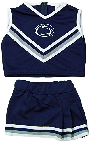NCAA Penn State Nittany Lions Two Piece Cheer Dress, 2 Tall, (Baby Infant Cheerleader Dress)